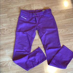 Purple diesel stretch jeans size 30